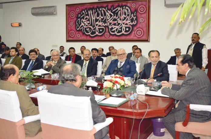 اسلام آباد: چیئرمین نیب جسٹس (ر) جاوید اقبال اجلاس کی صدارت کررہے ہیں