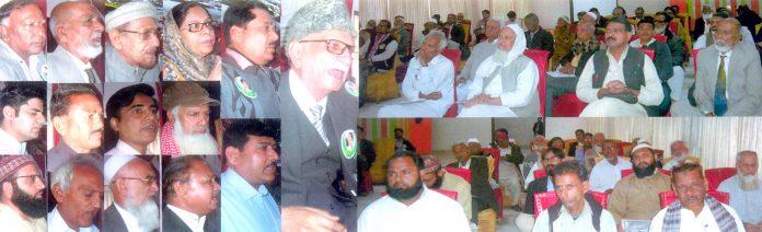 جناح مسلم لیگ ورکرز کانفرنس میں پروفیسر آزاد بن حیدر،ڈاکٹر وحیدالحسن و دیگر خطاب کر رہے ہیں