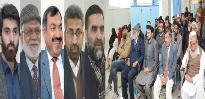 اسلام آباد ،سی بی آر فیز ون میں الخدمت رازی اسپتال کی این آئی سی یونٹ کے افتتاح کے موقع پر صدر سی بی آر الطاف احمد بٹ، ڈاکٹر افتخار برنی ،پروفیسر محمد اطہرشیخ و دیگر خطاب کررہے ہیں