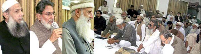 کراچی: نائب امیر جماعت اسلامی پاکستان پروفیسر ابراہیم و دیگر ضلع قائدین کے ذمے داران سے خطاب کررہے ہیں