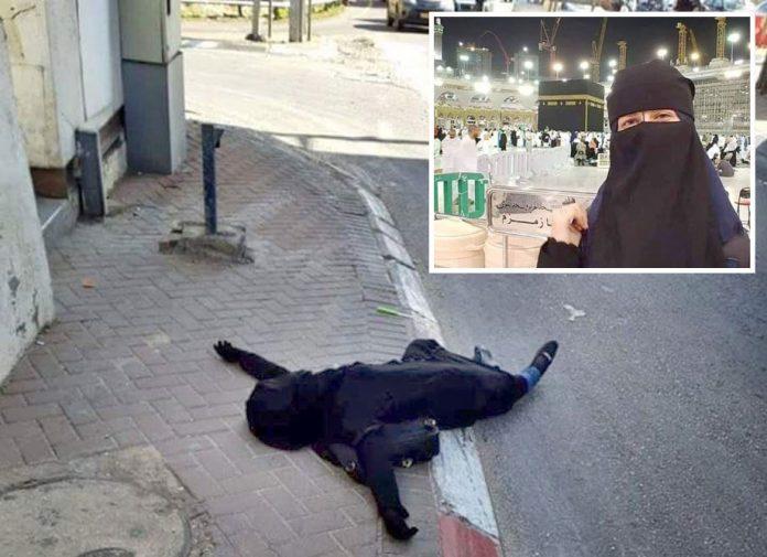 رام اللہ: سماح زہیر کی لاش سڑک پر پڑی ہے' چھوٹی تصویر شہید بچی کی 10روز قبل عمرہ ادا کرنے کی ہے