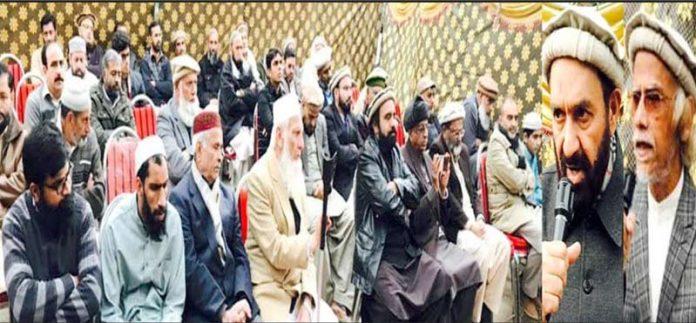اسلام آباد ،نائب امیر جماعت اسلامی پاکستان میاں محمد اسلم، پروفیسر حبیب الرحمن عاصم G-11 میں تقریب سے خطاب کررہے ہیں