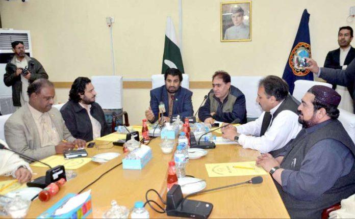 کوئٹہ :ڈپٹی اسپیکر قومی اسمبلی قاسم خان سوری سے بلوچستان چیمبر کا وفد ملاقات کر رہا ہے