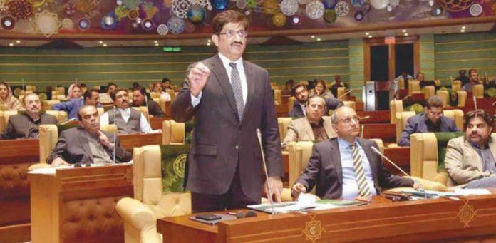کراچی: وزیراعلیٰ مراد علی شاہ سندھ اسمبلی کے اجلاس سے خطاب کررہے ہیں