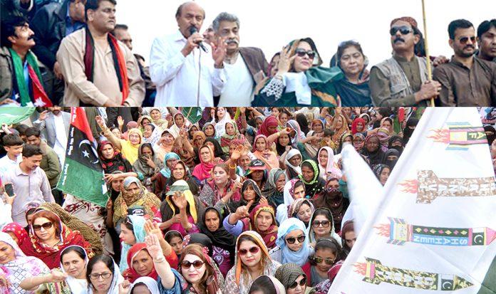 حیدرآباد: پیپلزپارٹی سندھ کے صدر نثا ر کھوڑو بھارتی دراندازی کے خلاف ریلی سے خطاب کررہے ہیں