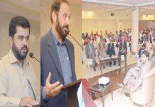 اسلام آباد،الخدمت فاؤنڈیشن کے پروگرام آرفن کیئر کے زیراہتمام منعقدہ یوم پاکستان کی تقریب سے میاں اسلم ،رضوان احمد اور حامد اطہرملک خطاب کررہے ہیں