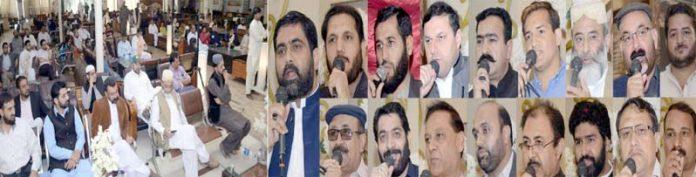 سدوئی ویلفیئر آرگنائزیشن کی تقریب میں رکن سندھ اسمبلی سید عبدالرشید،سردار نزاکت و دیگر خطاب کر رہے ہیں