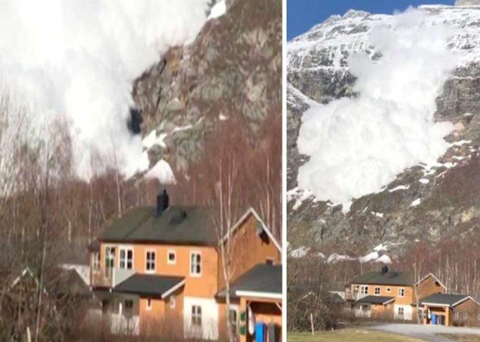 ناروے: طاقت ور برفانی تودا آبادی کی جانب بڑھ رہا ہے