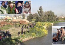 موصل: کشتی کو حادثہ پیش آنے کے بعد دریائے دجلہ سے لاشیں نکالی جارہی ہیں' بچائے گئے بچے سہمے ہوئے ہیں