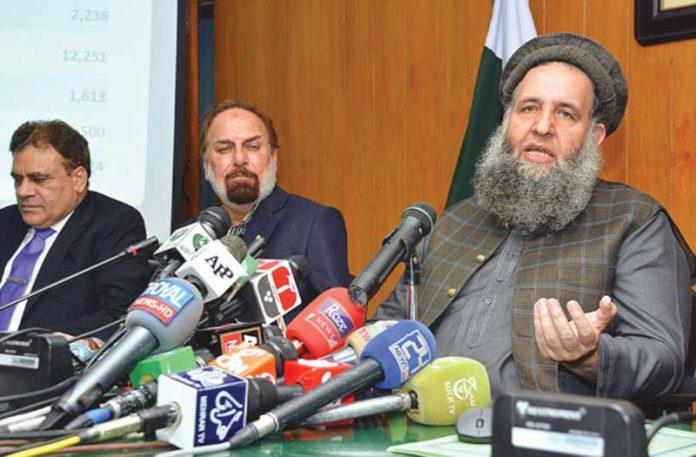 اسلام آباد:وفاقی وزیرمذہبی امور نورالحق قادری حج قرعہ اندازی کے بعد میڈیا سے گفتگو کررہے ہیں