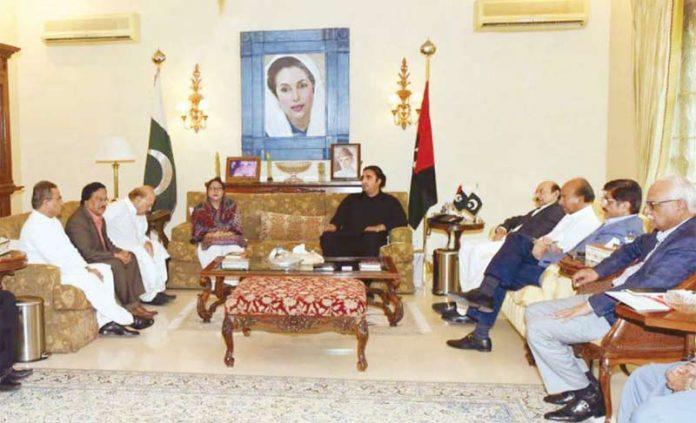کراچی: بلاول زرداری کی زیرصدارت پیپلزپارٹی کا اعلیٰ سطح کا اجلاس ہورہا ہے