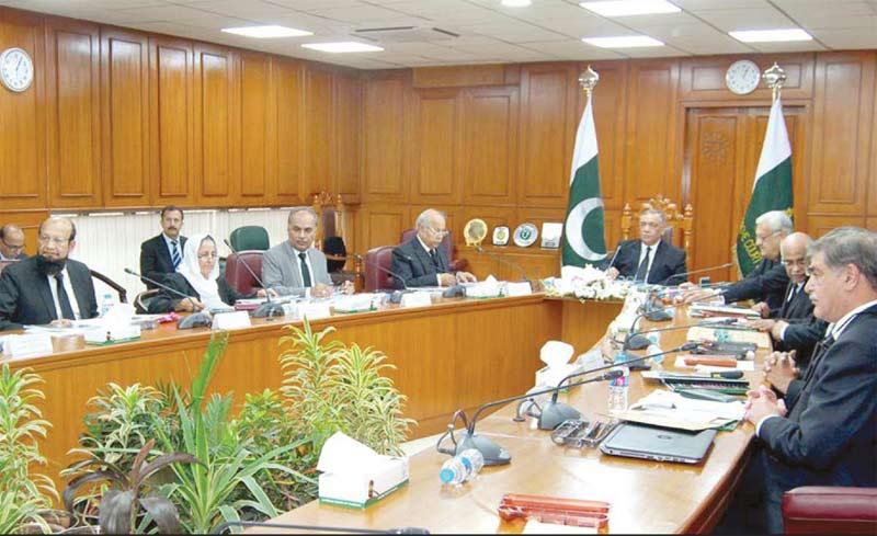 اسلام آباد: چیف جسٹس آصف سعید کھوسہ کی زیرصدارت نیشنل جوڈیشل پالیسی کمیٹی کا اجلاس ہورہا ہے