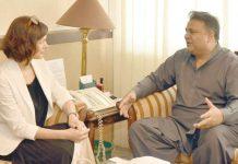اسلام آباد:وفاقی وزیر اطلاعات فواد چودھری سے بیلٹا نیوز ایجنسی کی ڈائریکٹر جنرل ملاقات کررہی ہیں