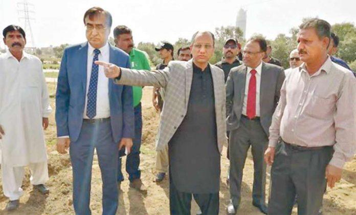 کراچی: وزیربلدیات سندھ سعید غنی شہید بینظیر بھٹو پارک کا دورہ کررہے ہیں