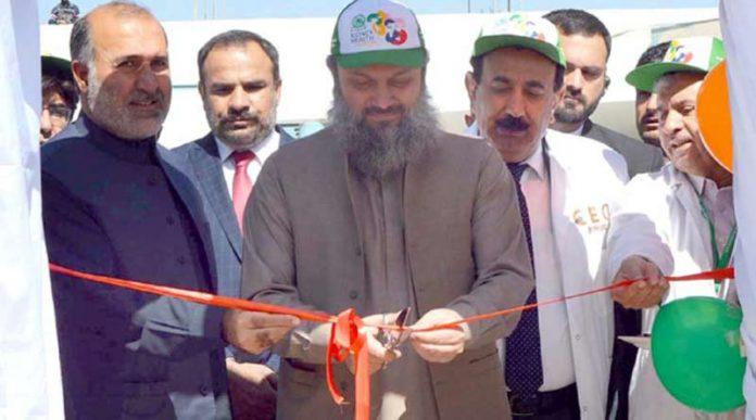 کوئٹہ، وزیر اعلیٰ بلوچستان جام کمال خان کڈنی ڈے کے حوالے سے اسکریننگ کیمپ کا افتتاح کررہے ہیں