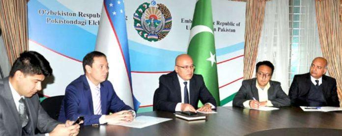اسلام آباد: ازبکستان کے سفیر فرقت اے صدیقو میڈیا کو بریفنگ دے رہے ہیں
