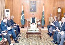 اسلام آباد: صدر مملکت عارف علوی سے یورپی یونین کا وفد ملاقات کررہا ہے