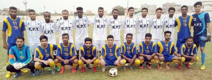 آل پاکستان فٹبال ٹورنامنٹ میں شریک ٹیموں کا گروپ فوٹو