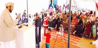 اسلام آباد،نائب امیرجماعت اسلامی پاکستان میاں محمد اسلم جھنگی سیداں میں اسکول کی سالانہ تقریب سے خطاب کررہے ہیں