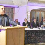 گورنر سندھ عمران اسماعیل چیئرمین یو بی جی سندھ خالدتواب کی رہائشگاہ پر عشائیہ سے خطاب کررہے ہیں