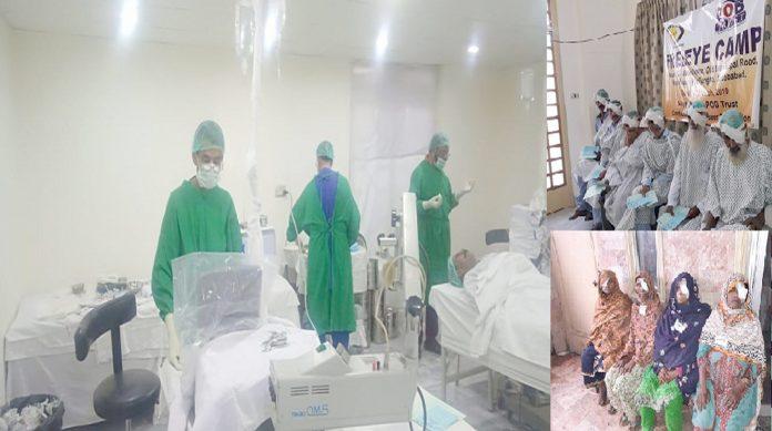 جیکب آباد،پاکستان اسلامک میڈیکل ایسوسی ایشن(پیما) کے تحت گل سینٹر میں3روزہ مفت آنکھوں کے کیمپ میں مریضوں کا علاج کیا جارہا ہے