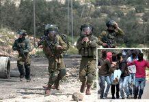 مقبوضہ بیت المقدس: اسرائیلی فوج نہتے فلسطینیوں پر گولیاں برسا رہی ہے' نوجوان اپنے زخمی ساتھی کو اٹھا کر لے جارہے ہیں