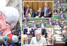 لندن: برطانوی پارلیمان میں وزیراعظم اور دیگر ارکان بریگزٹ پر بحث کررہے ہیں' اختتام ہفتے پر مظاہرے کے دوران یورپی یونین سے علاحدگی پر معیشت کو پہنچنے والے نقصان کی جانب اشارہ کیا جارہا ہے