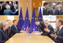 برسلز: برطانوی وزیراعظم تھریسا مے ''ای 27'' ممالک کے رہنماؤں سے گفتگو اور یورپی یونین کے سربراہ ڈونلڈ ٹسک کے ساتھ مذاکرات کررہی ہیں