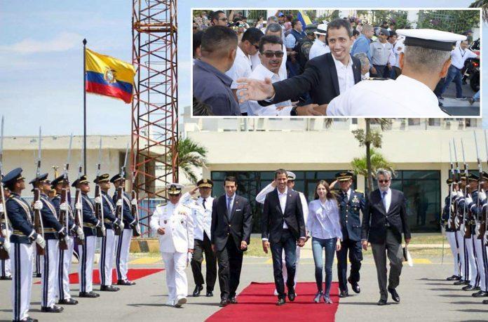 ایکواڈور: وینزویلا کے خودساختہ عبوری صدر خوآن گوائیڈو کا پُرتپاک استقبال کیا جارہا ہے