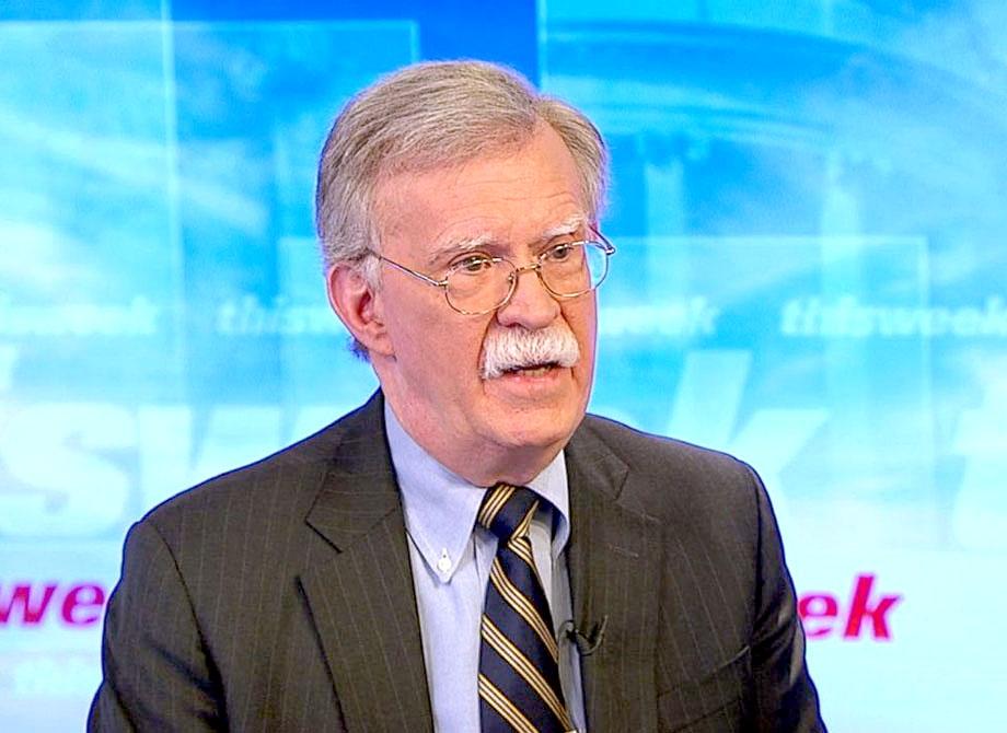واشنگٹن: امریکی صدر کے مشیرقومی سلامتی جان بولٹن اے بی سی نیوز کو انٹرویو دے رہے ہیں