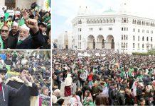 الجزائر: ہزاروں افراد دارالحکومت میں صدر کے خلاف احتجاج کررہے ہیں' جمعہ کے روز ہونے والے مظاہروں میں ایک بار پھر بوتفلیقہ کے مستعفی ہونے اور بروقت انتخابات کا مطالبہ کیا گیا