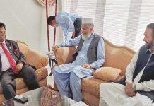 لاہور: امیر جماعت اسلامی سراج الحق سری لنکن سفیر سے دہشت گردی پر اظہارافسوس کررہے ہیں