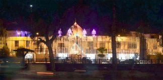 شب برأت کی مناسب سے مسجد کو برقی قمقوں سے سجایا گیا ہے