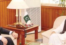 اسلام آباد: تیونس کے سفیر عادل العربی اسپیکر قومی اسمبلی اسد قیصر سے ملاقات کررہے ہیں