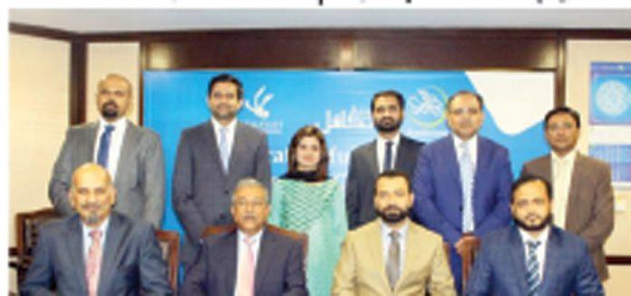 بینک اسلامی اور ای ایف یو لائف کے درمیان بینکا تکافل بزنس کے حوالے سے اشتراک کے موقع پر گروپ