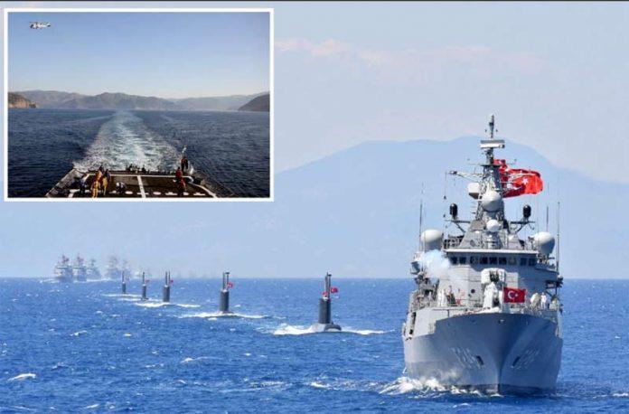 انقرہ: تُرک بحریہ ملکی تاریخ کی سب سے بڑی جنگی مشقیں کررہی ہے
