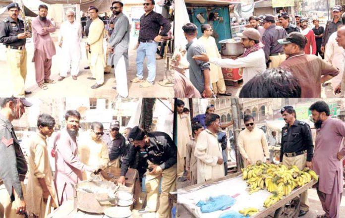 حیدر آباد : اسسٹنٹ کمشنر سٹی فراز احمد صدیقی کی سربراہی میں مختلف مقامات پر رمضان آرڈیننس کی خلاف ورزی پر کارروائی کی جارہی ہے