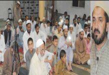 امیرجماعت اسلامی ضلع راولپنڈی راجا جواد احمد ، امجد شاہ اور امتیاز علی اسلم پی پی 12 کے زیراہتمام تربیتی نشست سے خطاب کررہے ہیں