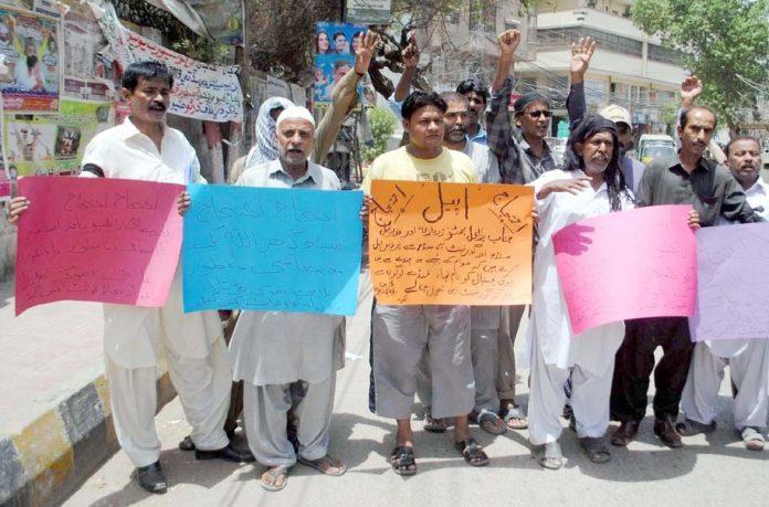 حیدر آباد : راجپوتانہ بچائو جوائنٹ ایکشن کمیٹی کے تحت پریس کلب پر احتجاج کیا جارہا ہے