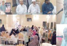 ٹنڈوالہٰیار : الخدمت فائونڈیشن آرفن پروجیکٹ کے تحت یتیم بچوں کی افطار تقریب سے محمد یونس اور خورشید احمد عالم کھوکھر خطاب کررہے ہیں