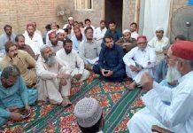 جیکب آباد : نائب امیر جماعت اسلامی سندھ پروفیسر نظام الدین میمن افطار تقریب سے خطاب کررہے ہیں