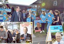 آسٹریلیا: عام انتخابات کے موقع پر پولنگ اسٹیشنوں کے باہر عوام قطاروں میں کھڑے ہیں