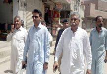 لاڑکانہ : قائم مقام میئر ایڈووکیٹ انور علی نواز شہر کا دورہ کررہے ہیں