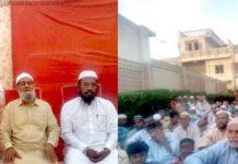 محمد حسین محنتی کورنگی جے ایریامیں افطار پارٹی سے خطاب کر رہے ہیں ،اس موقع پرعبدالجمیل خان ،عاشق علی خان ودیگرذمے داران بھی موجود ہیں