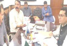 ڈپٹی کمشنر جامشورو کیپٹن(ر) فرید الدین مصطفی اینٹی کرپشن کمیٹی کے منعقدہ اجلاس کی صدارت کررہے ہیں
