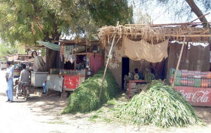 ہنگورجہ ،قبضہ مافیا نے غیرقانونی دکانیں تعمیر کی ہوئی ہیں