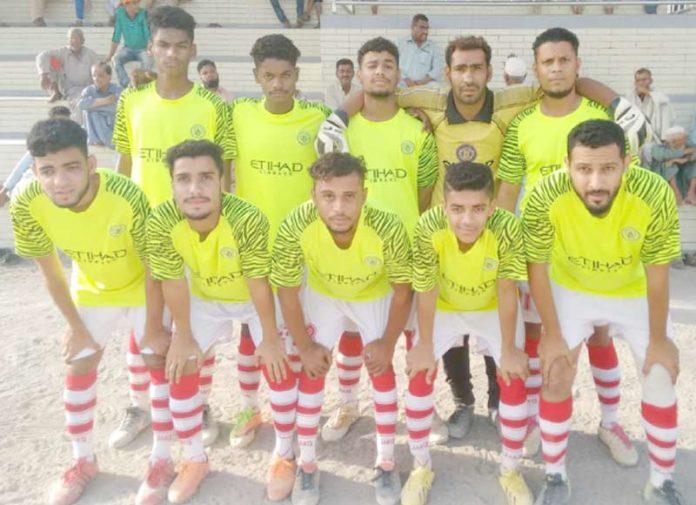 مقامی کلب کے تحت ہونے والے فٹبال ٹورنامنٹ اصلاح مسلم ٹیم کا میچ سے قبل لیاگیا گروپ فوٹو