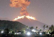 انڈونیشیا: بالی کے ماؤنٹ اگنگ سے لاوا پھوٹ رہا ہے' آتش فشانی کے باعث کئی پروازیں متاثر ہوئیں