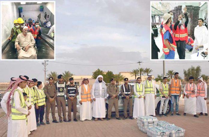 مکہ مکرمہ: سعودی رضاکار مسجد الحرام اور شہر کے داخلی راستے پر زائرین کی خدمت کررہے ہیں