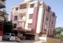 ناظم آباد نمبر 2 پلاٹ نمبر 4/29 II-A پر تیسری منزل کی غیر قاننی تعمیر جاری ہے